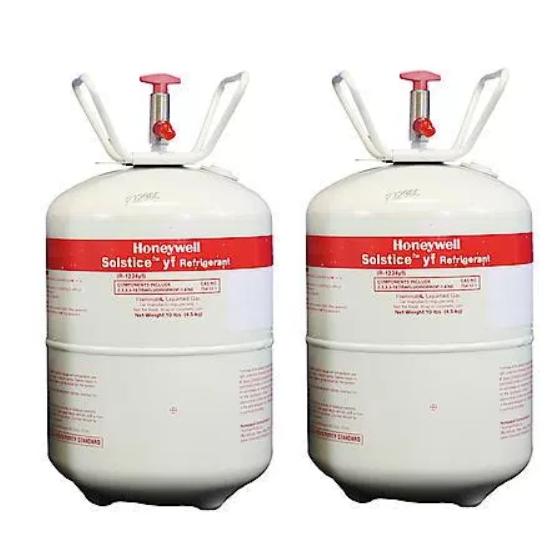 Honeywell HFO-1234yf - Two cylinders (10 lbs each)