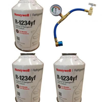 HFO 1234yf cans & gauge