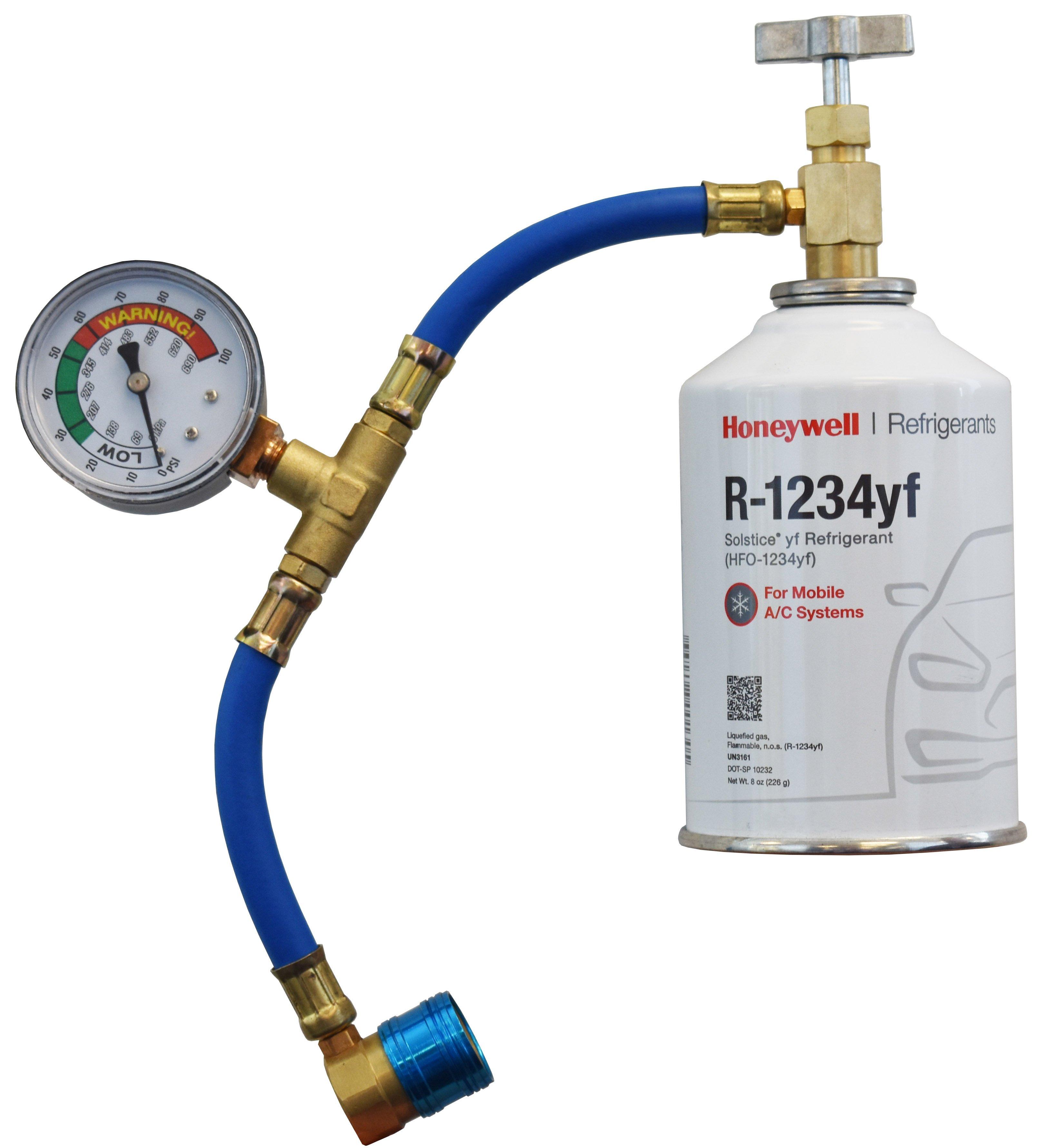 Honeywell R 1234yf Three 8 Ounce Cans Service Hose Gauge Refrigerant Depot