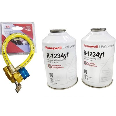 Honeywell R 1234yf Three 8 Ounce Cans Weitron Can Tap Refrigerant Depot