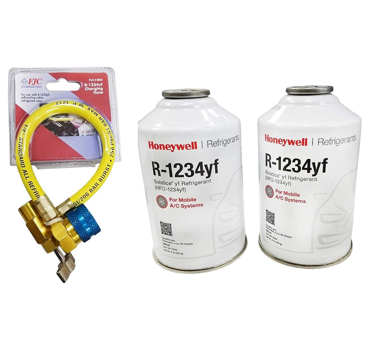 Honeywell R 1234yf Two 8 Ounce Cans Charging Hose