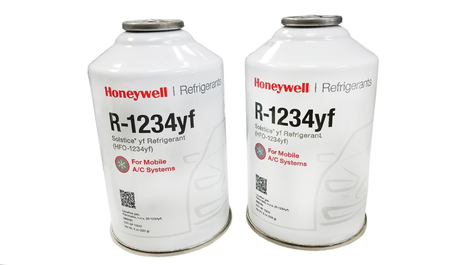 Honeywell R 1234yf Two 8 Ounce Cans Of Refrigerant Refrigerant Depot